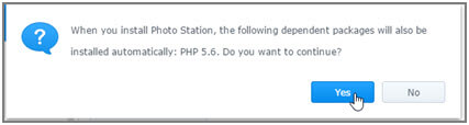 Confirmation prompt to install php 5.6