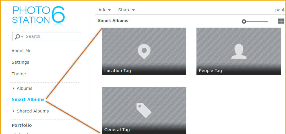 Smart Albums; Locations, People & General Tags in Photo Station
