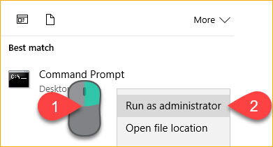 Opening the Windows cmd prompt as Administrator