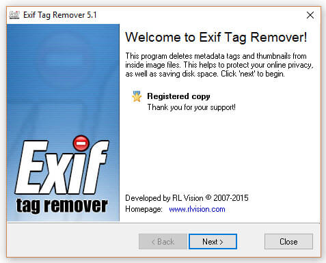 Exif Tag Remover - Screen 1