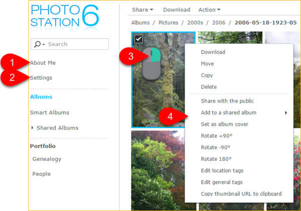 Named User - Album View - in Synology Photo station