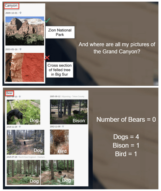 Results of Moments auto tags