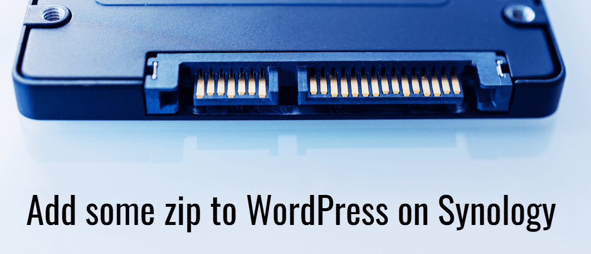 Add some zip to WordPress on Synology